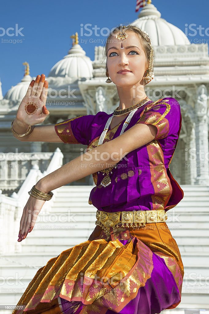 Indian Classical Dance Performer stock photo