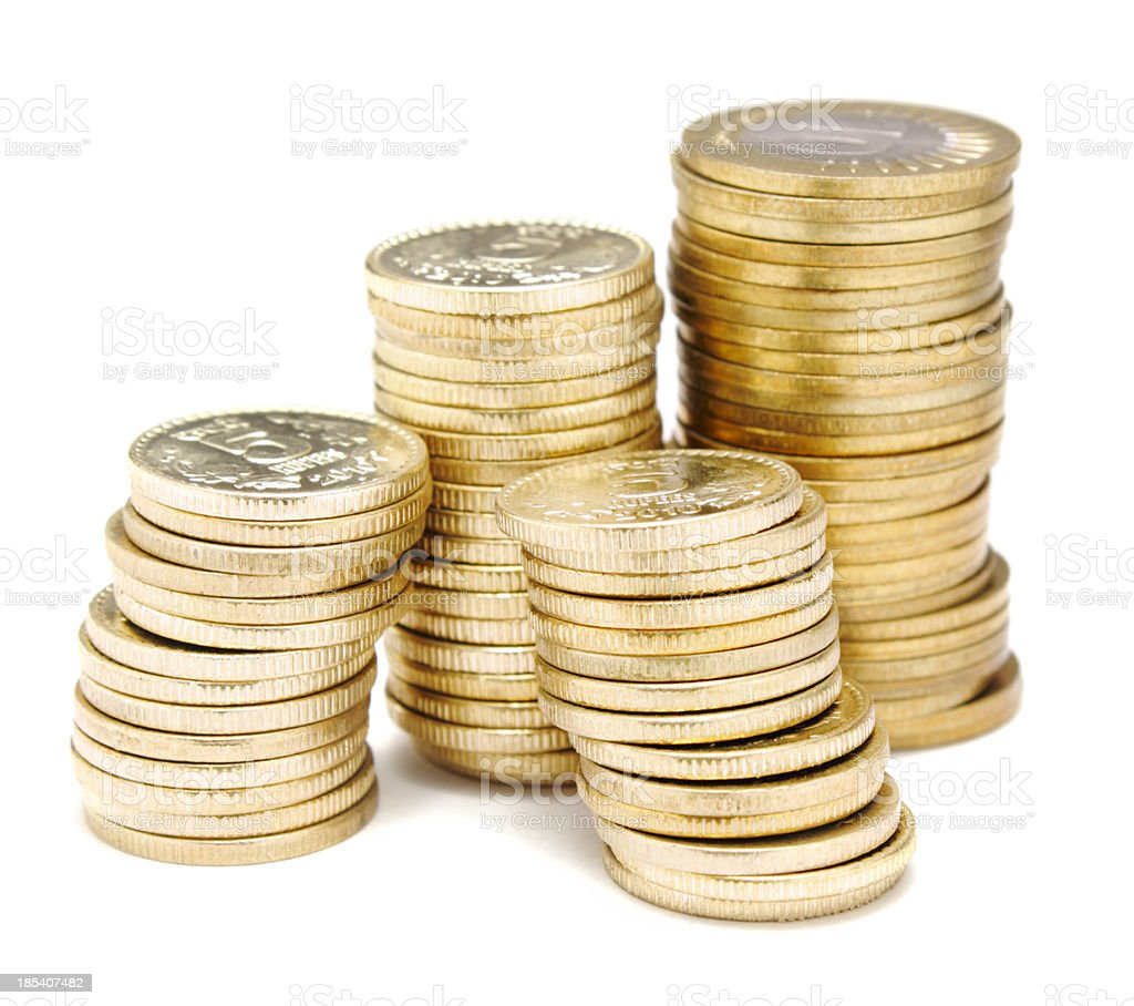 Indian Coins stock photo