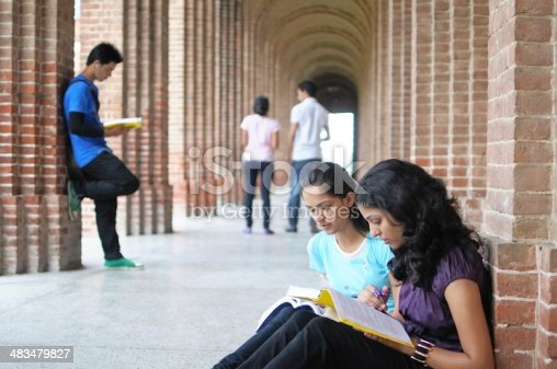 istock Indian College students preparing for examination. 483479827