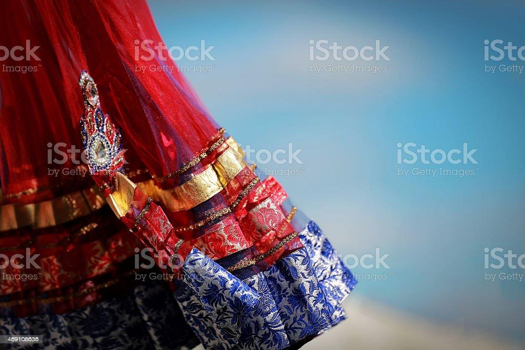 인도어 색상화 정장용, 비즈 crystals at 문화 패스티발 시장 스톡 사진
