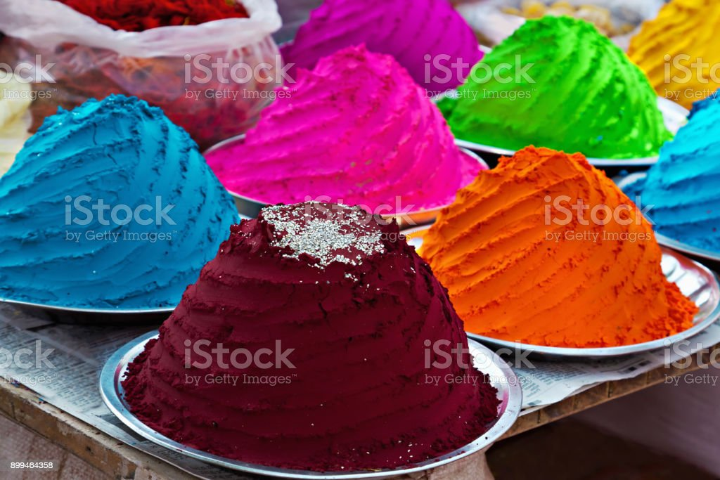Indian colorful powder stock photo