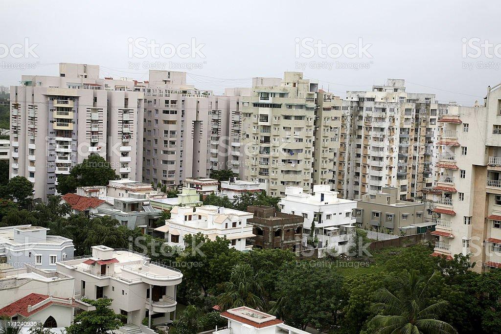 Indian condominiums royalty-free stock photo
