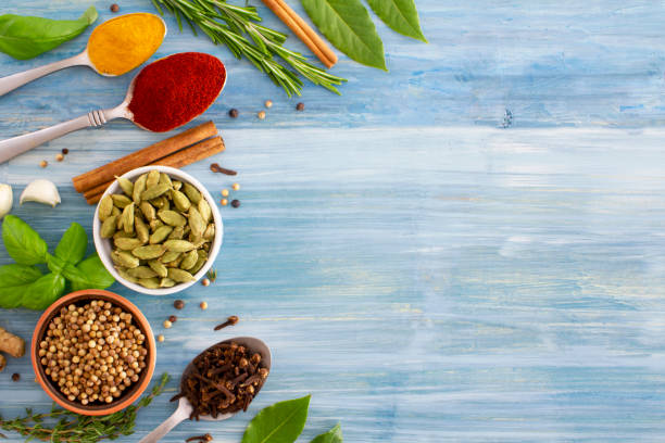 Indian cooking background stock photo