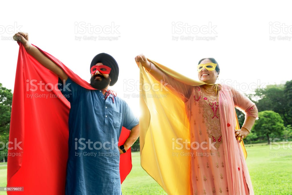 indian couple superheroes love concept stock photo more pictures