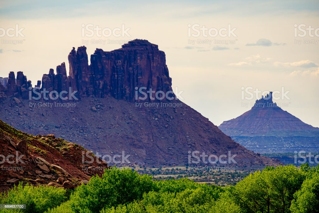 Indian Creek Bears Ears National Monument stock photo
