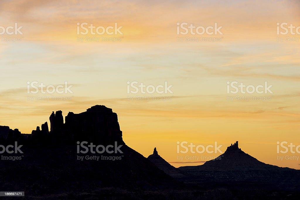 Indian Creek Western Landscape stock photo