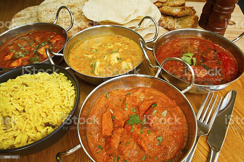 indian cuisine buffet stock photo