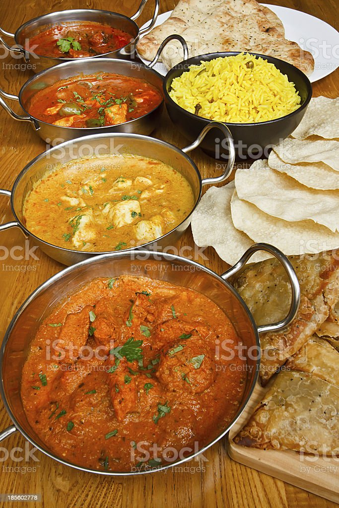 indian cuisine selection stock photo