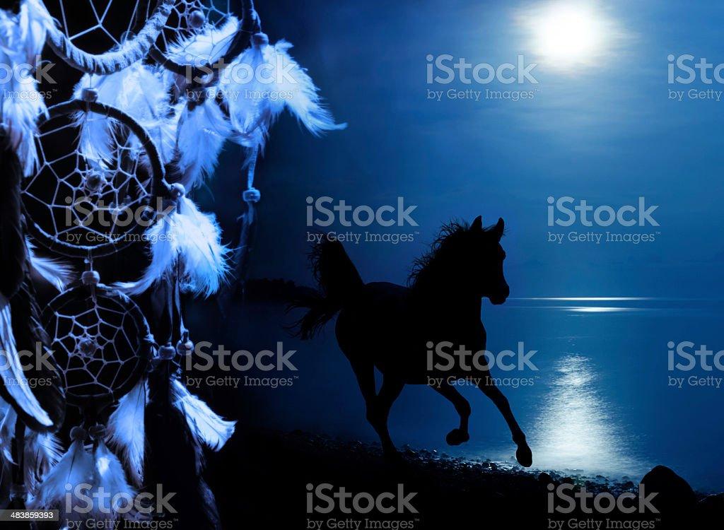 culture indienne d'Inde-porte-bonheur indien avec gallping cheval - Photo