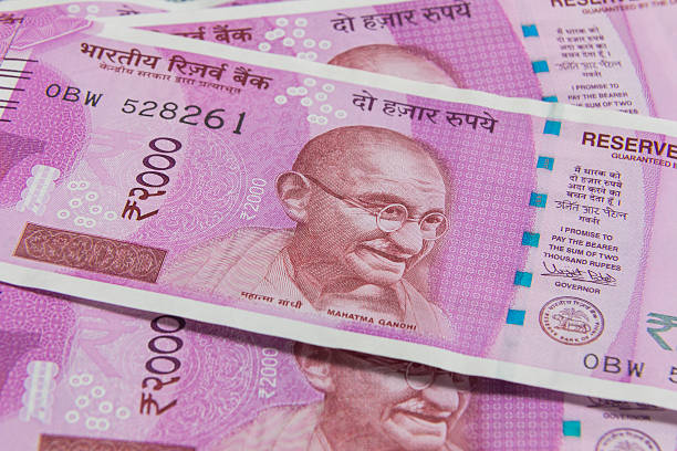 Indian Currency 2000 Rupee stock photo