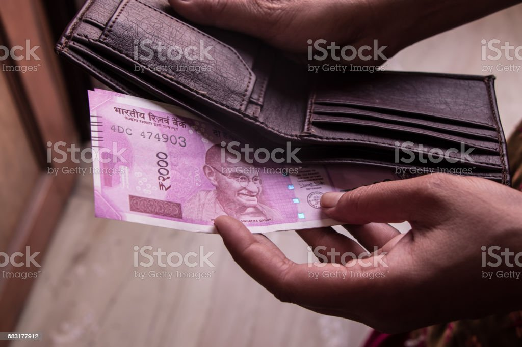 Image of Indian currency and wallet