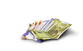 istock Indian currency in a white background 1192241790
