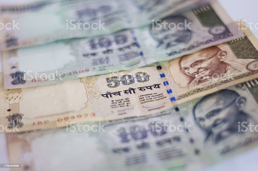 Indian Currency stock photo