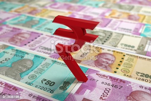 istock Indian currency Rupee Symbol 922506198