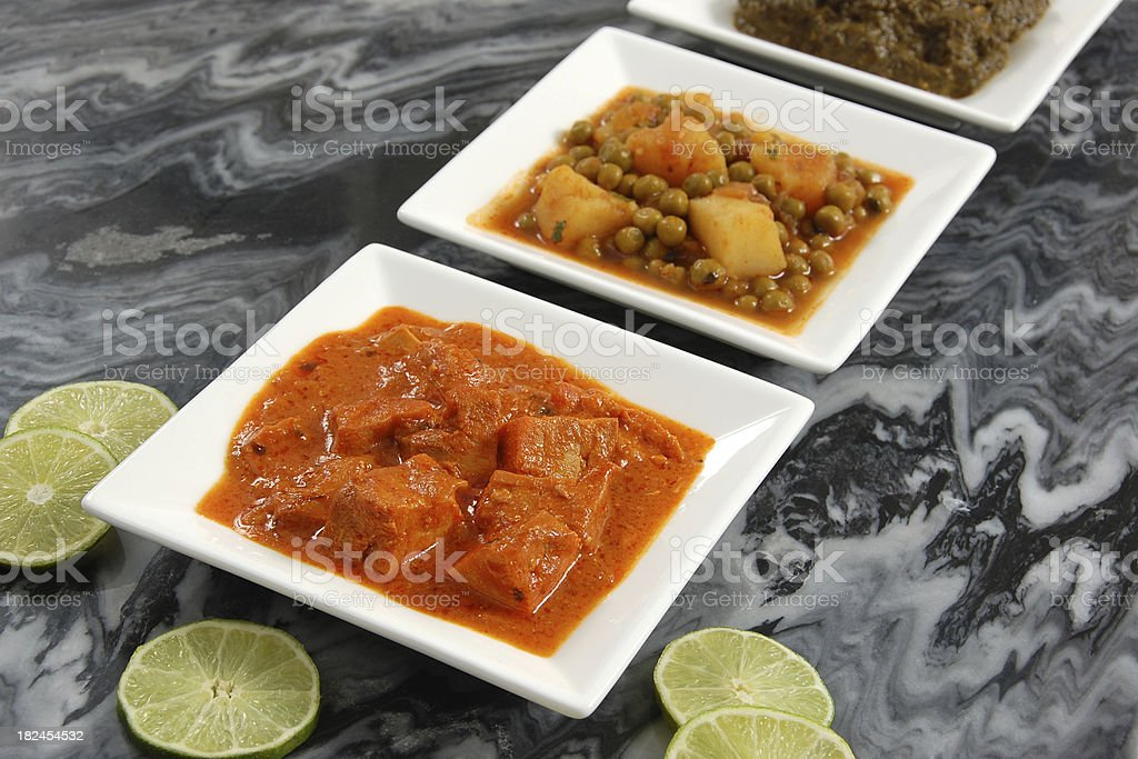 Indian Curries royalty-free stock photo