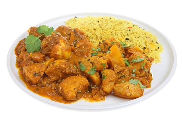 indische curry mahlzeit - curry reis stock-fotos und bilder