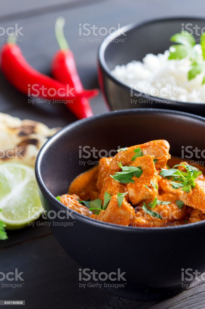 Indian Curry Meal stock photo