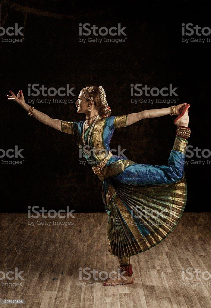 Indian dance Bharatanatyam exponent stock photo