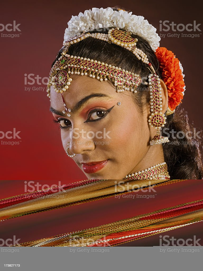 Indian Dancer (4/15) - Female royalty-free stock photo