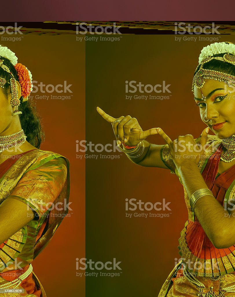 Indian Dancer (3/15) - Female royalty-free stock photo