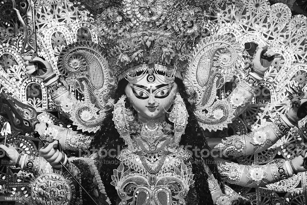 Indian Deity : Goddess during Durga Puja Celebrations. royalty-free stock photo