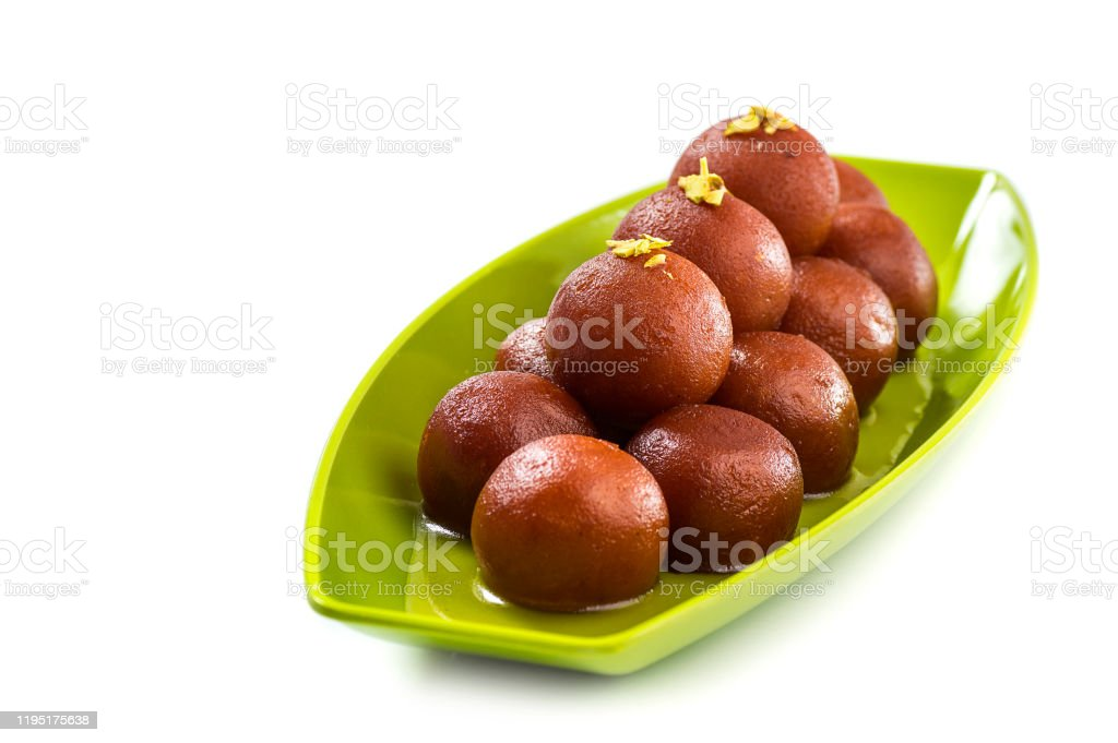 Indian Dessert Gulab Jamun Sweet Dish Isolated On White Background Stock Photo Download Image Now Istock