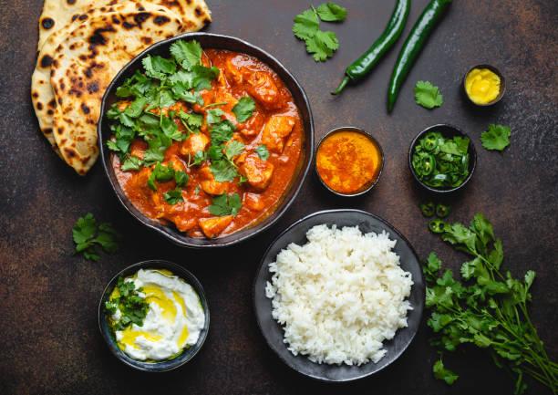 prato indiano frango tikka masala - caril - fotografias e filmes do acervo