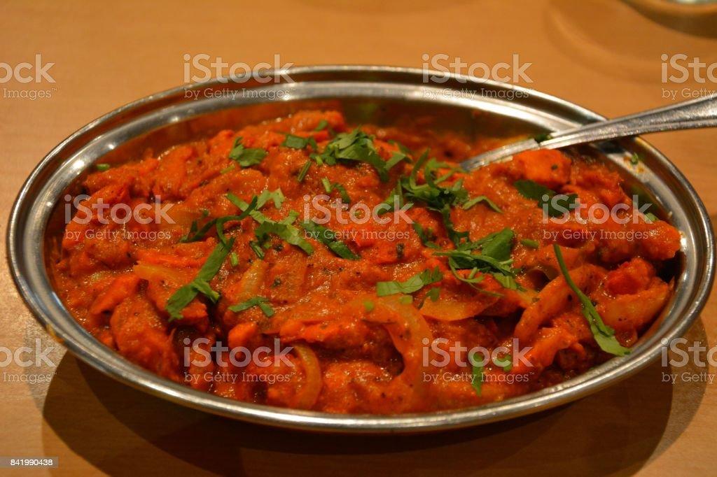 Indian dish Kadhai chicken stock photo