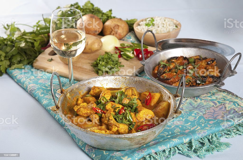 Indian dishes royalty-free stock photo