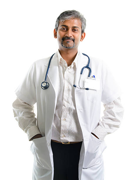 Indian doctor. stock photo