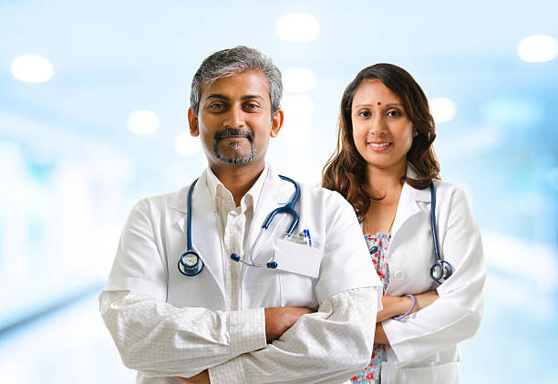 Indian doctors stock photo
