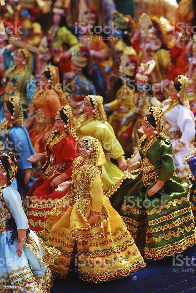 indian dolls royalty-free stock photo