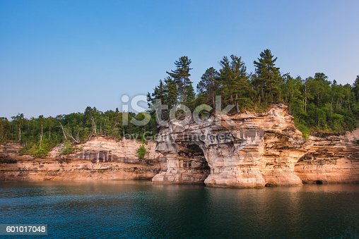 Indian Drum rock formation at Pictured Rocks National Lakeshore/Lake Superior/Michigan
