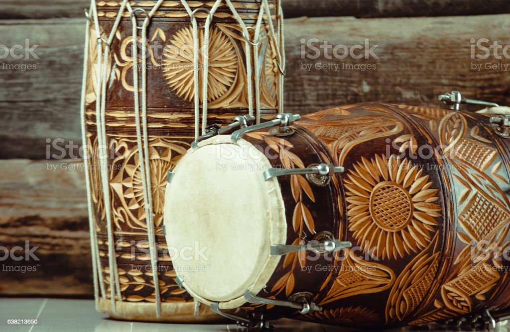 indian drums dholak stock photo
