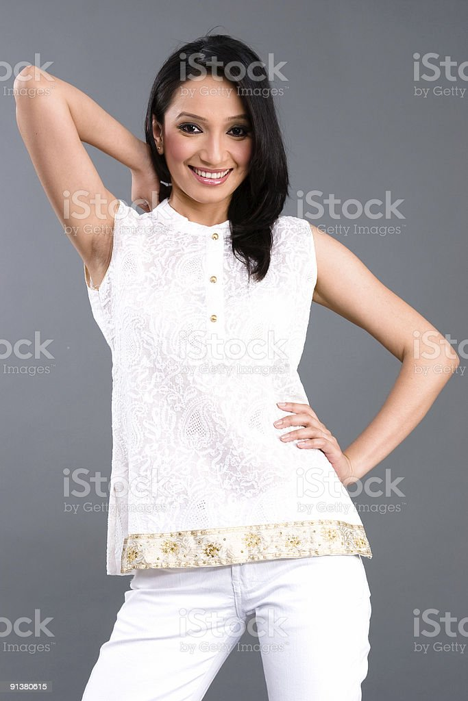Indian Embroidered Women's Apparel royalty-free stock photo