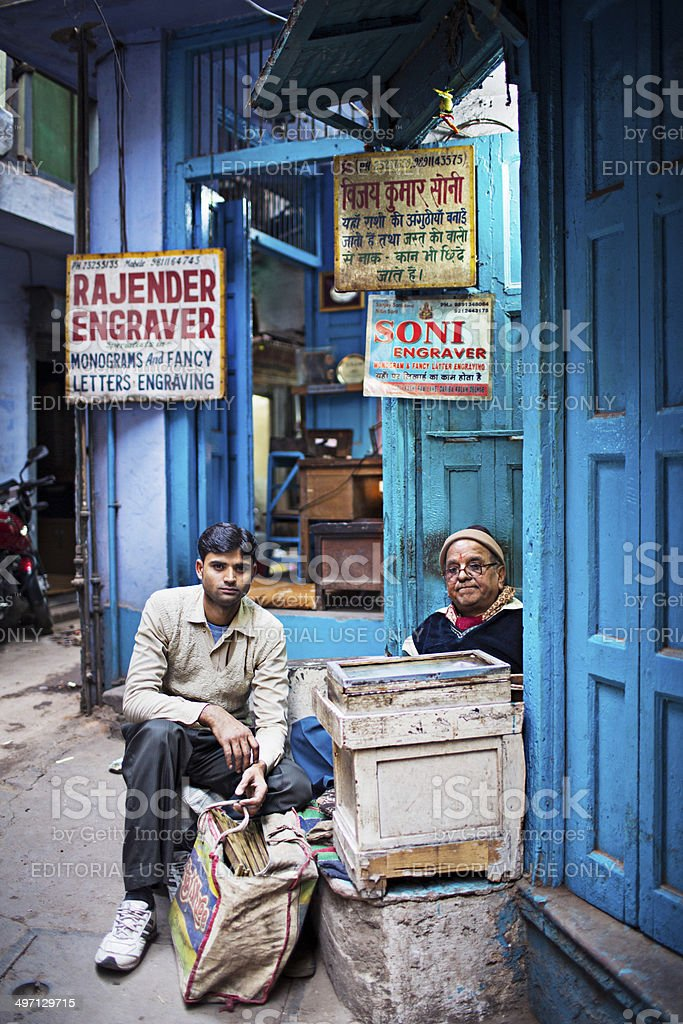 Indian engravers royalty-free stock photo