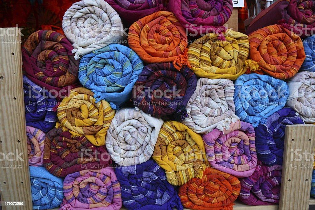 Indian fabrics stock photo