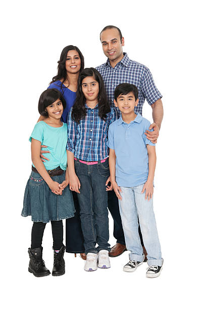 Indian Family Portrait stock photo