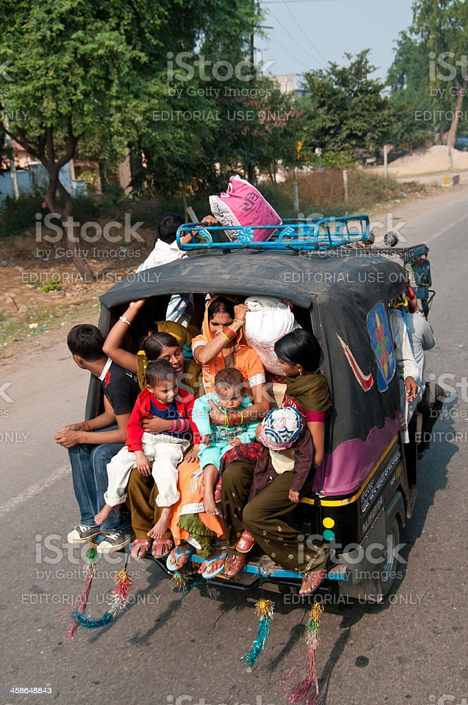 Indian Family Travelling stock photo
