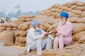 Punjab, Anaj Mandi, Indian, Punjabi, Sikh, Turban, Senior, Agriculture,