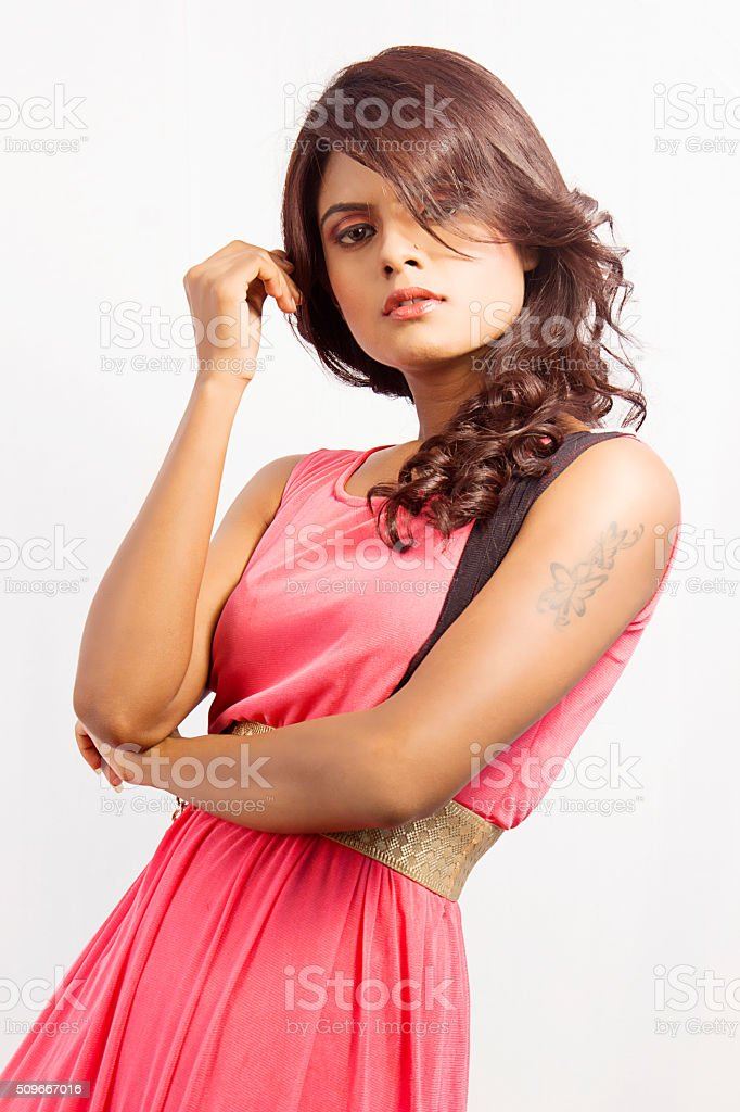 Indian Fashion Model Rikhtee Photoshoot - Look1Shot3 stock photo