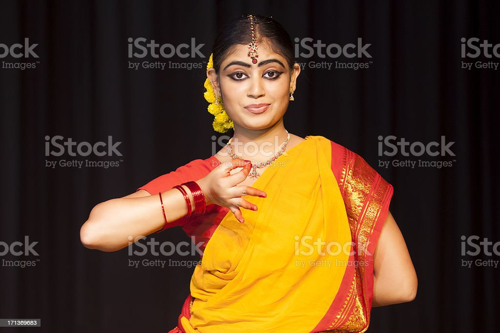 Indian Female Classical Dancer Bharata Natyam stock photo