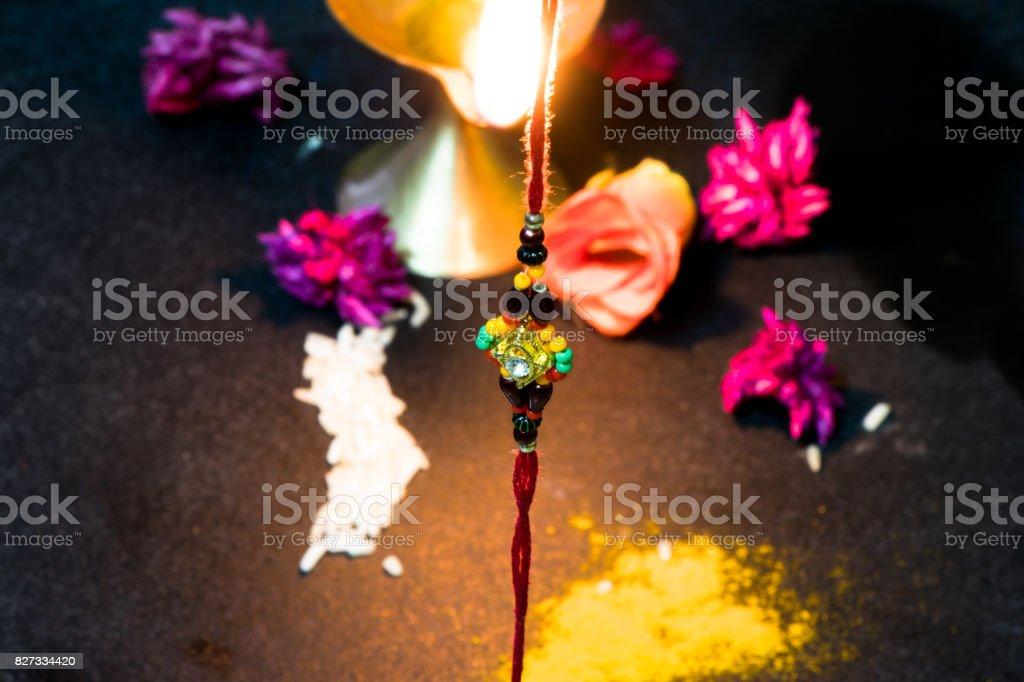 Indian Festival Raksha Bandhan Background With An Elegant Rakhi A
