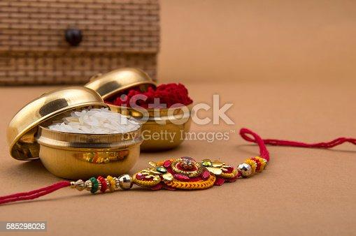 istock Indian festival: Raksha Bandhan, Rakhi. 585298026