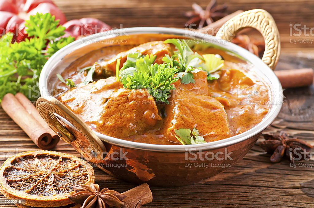 Indian Fish Curry stock photo
