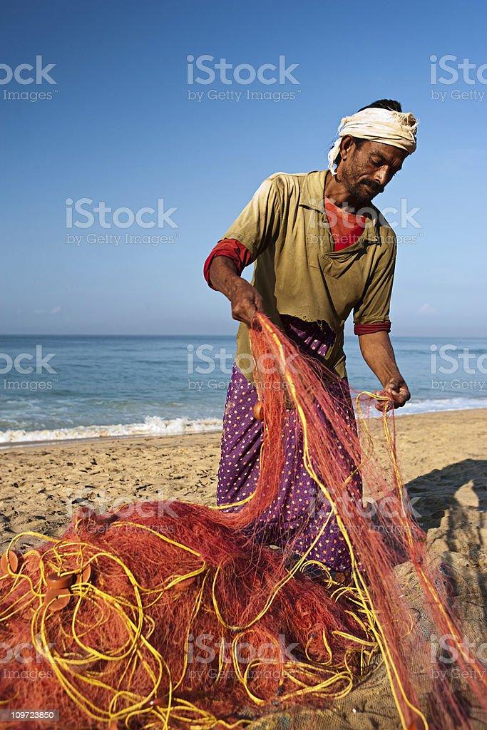 Indian fisherman royalty-free stock photo