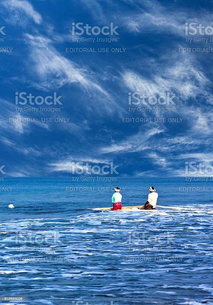 Indian fishermen in Kerala, South India stock photo
