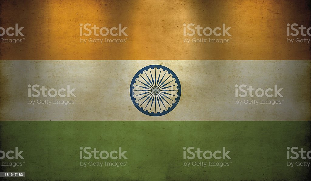 Indian Flag Grunge Wallpaper royalty-free stock photo