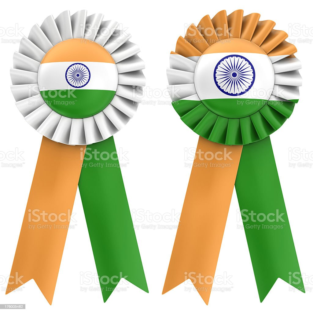 indian flag on ribbon royalty-free stock photo