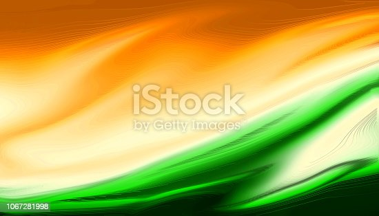 istock Indian Flag Tricolor Painted With Fluid Art Texture As background 1067281998